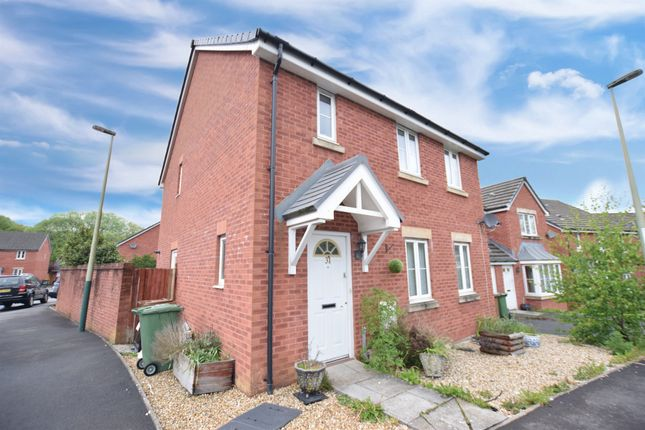 Thumbnail Semi-detached house for sale in Farm Close, Tir-Y-Berth, Hengoed