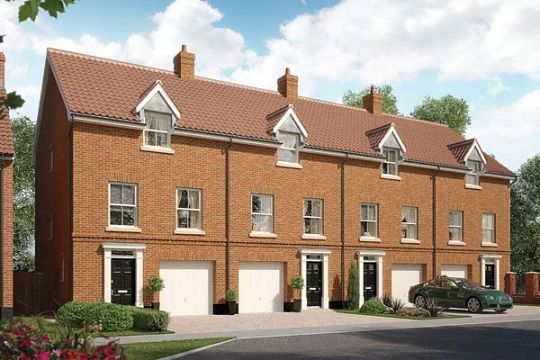 Thumbnail Terraced house for sale in The Flordon, Oakley Park, Mulbarton, Norfolk