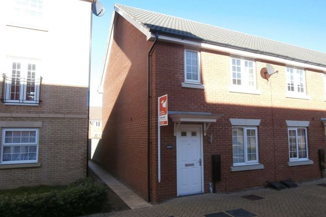 Thumbnail Terraced house to rent in Pacey Way, Grantham