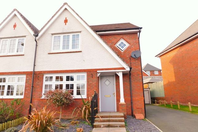 Thumbnail Semi-detached house for sale in Kingfisher Way, Penallta, Hengoed