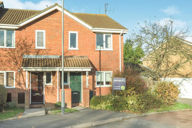 Thumbnail End terrace house to rent in Fakenham Close, Lower Earley, Reading