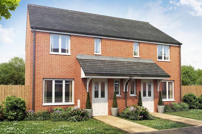 "Thumbnail Semi-detached house for sale in ""The Hanbury"" at Broad Street Green Road, Heybridge, Maldon"