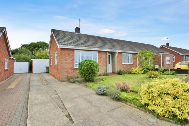 Thumbnail Semi-detached bungalow for sale in Grant Road, Spixworth, Norwich
