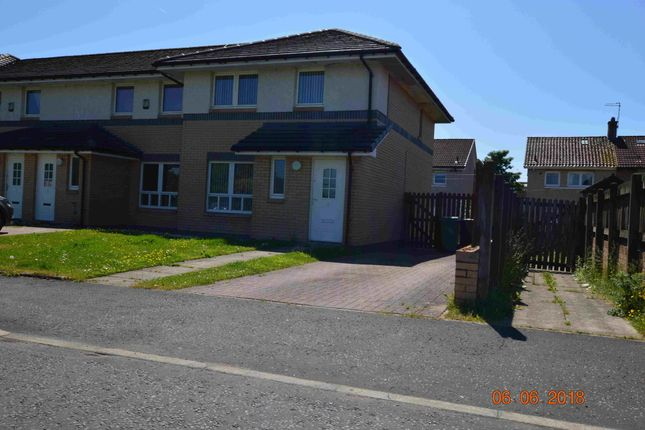 Thumbnail End terrace house to rent in Avenue End Drive, Hogganfield Manor, Glasgow