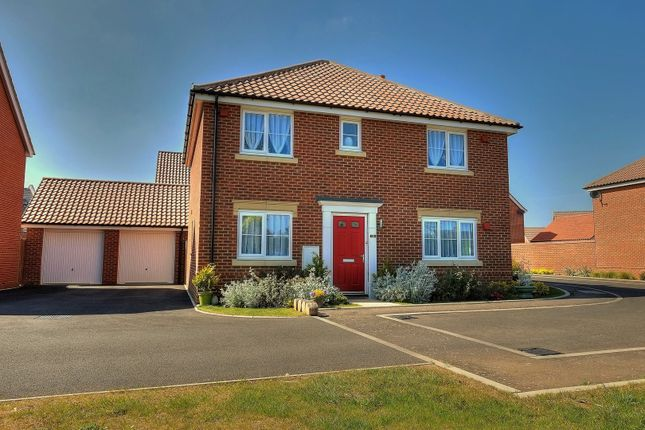 Thumbnail Detached house for sale in Speckled Wood Close, Attleborough