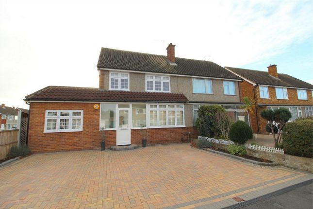 Thumbnail Semi-detached house for sale in Lynegrove Avenue, Ashford, Middlesex