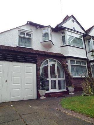 Thumbnail Semi-detached house to rent in 26 Shepherds Green Road, Erdington