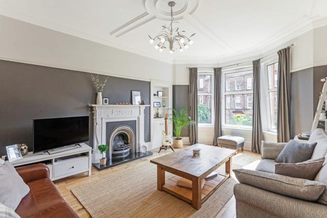 Living Room of Clarence Drive, Hyndland, Glasgow G12