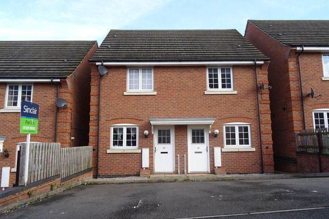 Thumbnail Semi-detached house for sale in Spinners Way, Shepshed, Leicestershire