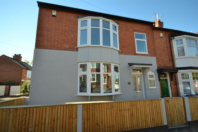Thumbnail End terrace house for sale in Lorne Road, Leicester