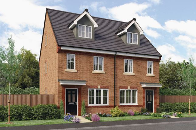 Thumbnail Town house for sale in The Tolkien, Barley Meadows, Cramlington, Northumberland