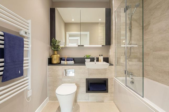 """Bathroom of """"Iris Apartments"""" at Bittacy Hill, London NW7"""