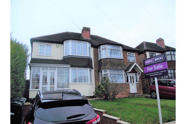 Thumbnail Semi-detached house for sale in Partridge Road, Birmingham