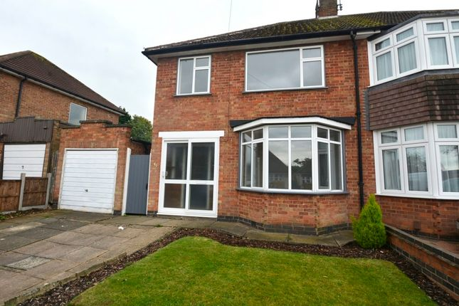 Thumbnail Semi-detached house to rent in 31 Chatteris Avenue, Leicester
