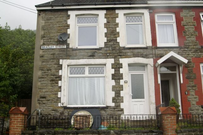 Thumbnail Terraced house to rent in Bradley Street, Abercynon, Mountain Ash