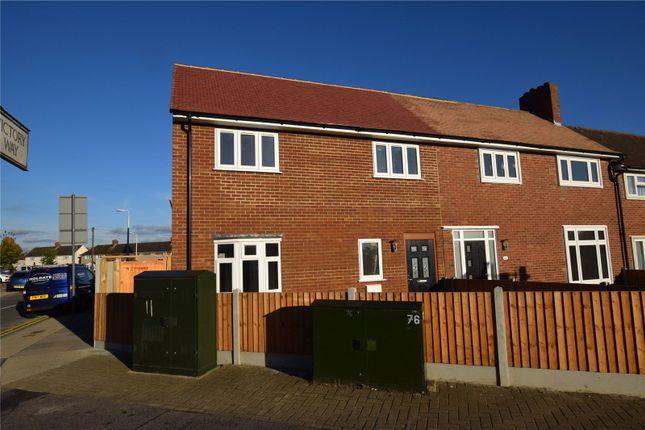 Thumbnail End terrace house for sale in White Hart Lane, Collier Row