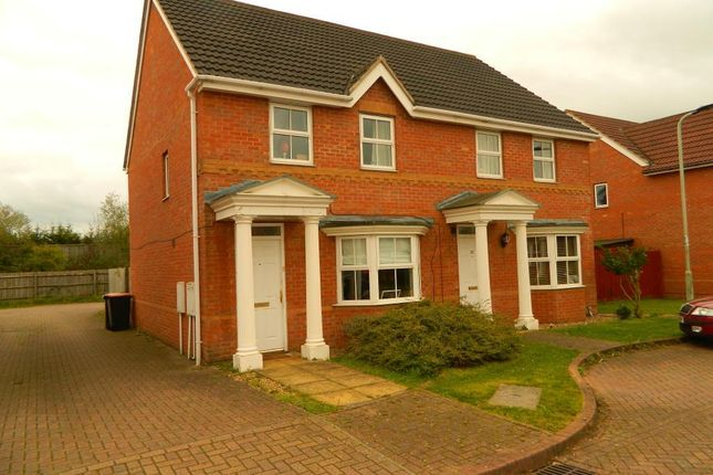 Thumbnail End terrace house to rent in Halesowen Drive, Abbeyfields, Elstow, Bedford, Beds