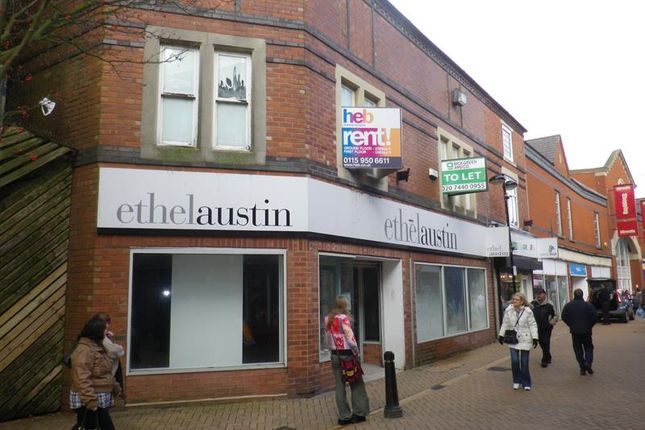 Retail premises to let in 9-11 Low Street, Sutton In Ashfield, Nottinghamshire