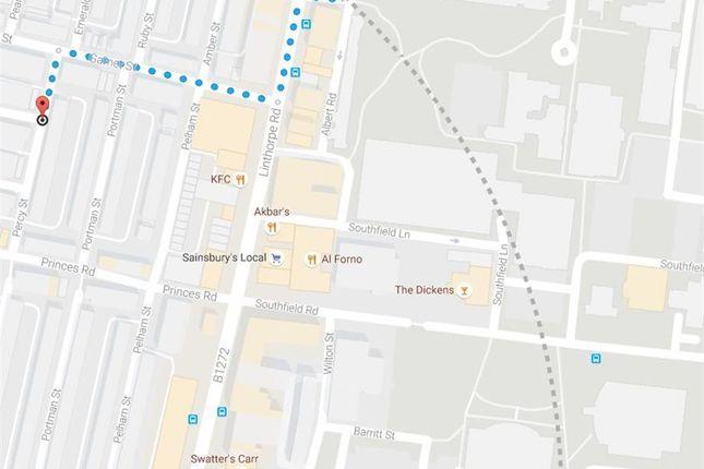 Street Map of Peel Street, Middlesbrough TS1