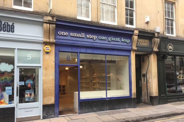 Thumbnail Retail premises to let in 6 Cheap Street, Bath, Somerset