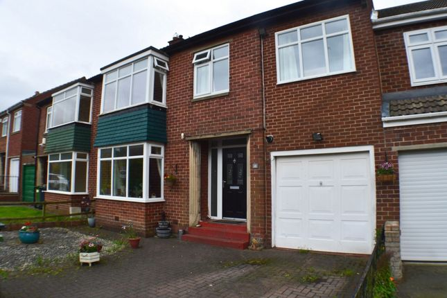 Thumbnail Terraced house for sale in Burnaby Drive, Ryton