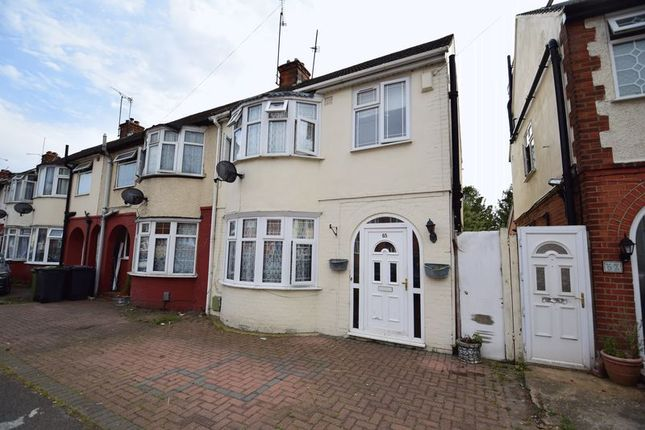 Thumbnail End terrace house for sale in Chester Avenue, Leagrave, Luton