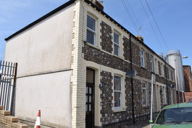Thumbnail End terrace house to rent in Percy Street, Cardiff