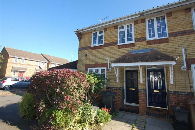 Thumbnail End terrace house to rent in Augustus Gate, Chells Manor, Stevenage, Herts