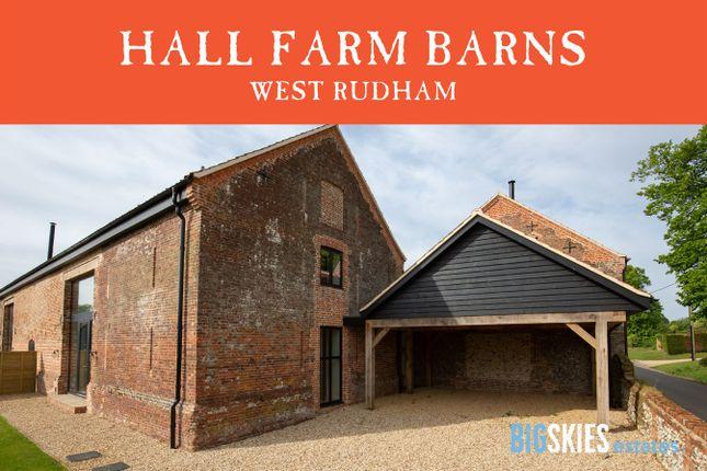 Thumbnail Barn conversion for sale in School Road, Pockthorpe, West Rudham