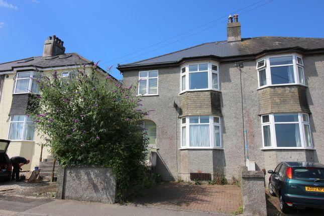 Thumbnail Semi-detached house for sale in Belle Vue Road, Saltash