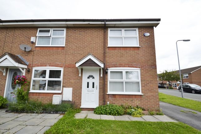 Thumbnail End terrace house to rent in Dalewood Gardens, Whiston, Prescot
