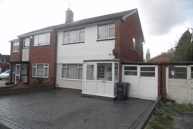 Thumbnail Semi-detached house to rent in Kelverley Grove, West Bromwich, West Midlands