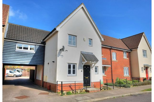 Thumbnail End terrace house for sale in Field Acre Way, Norwich