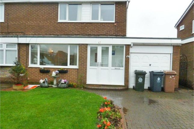 Thumbnail Semi-detached house for sale in Brookside, Dudley, Cramlington, Tyne And Wear