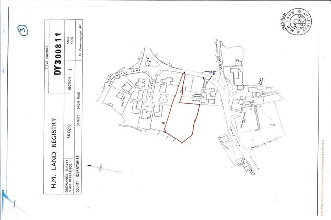 Thumbnail Land for sale in Simmondley Village, Glossop