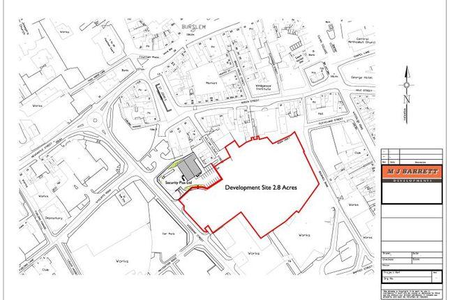 Thumbnail Land for sale in Bournes Bank, Woodbank Street, Burslem
