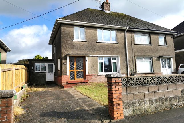 Thumbnail Semi-detached house for sale in Croft Goch Road, Kenfig Hill