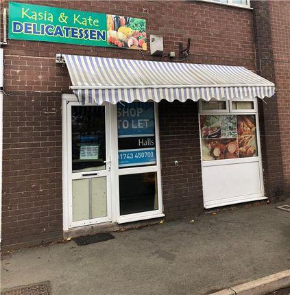 Thumbnail Retail premises to let in Shop 3 Talbot House, Wem, Shropshire