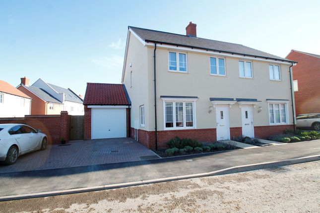 Thumbnail Semi-detached house for sale in Maritime Approach, Rowhedge, Colchester