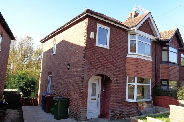 Thumbnail Semi-detached house to rent in Sandringham Road, Bredbury, Stockport