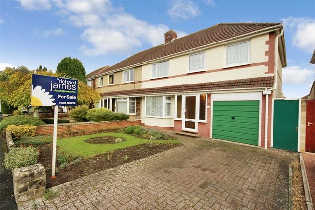 Thumbnail Semi-detached house for sale in Wigmore Avenue, Lawn, Swindon, Wiltshire