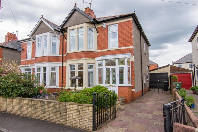 Thumbnail Semi-detached house for sale in Pen Y Groes Avenue, Rhiwbina, Cardiff