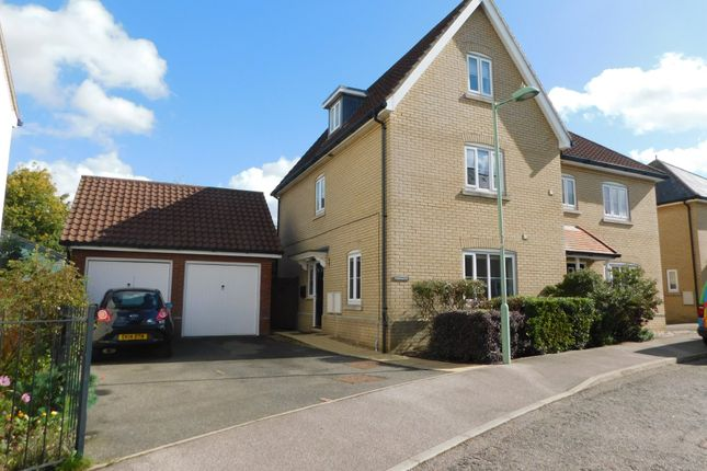 Thumbnail Semi-detached house for sale in Redwing Drive, Stowmarket, Suffolk
