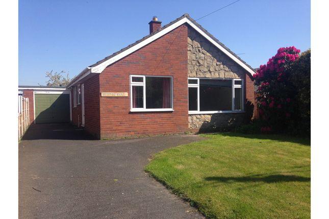 Thumbnail Detached bungalow for sale in Aston Road, Wem, Shrewsbury