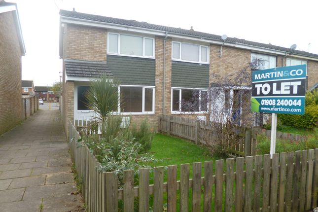 Thumbnail End terrace house to rent in Isis Walk, Bletchley, Milton Keynes