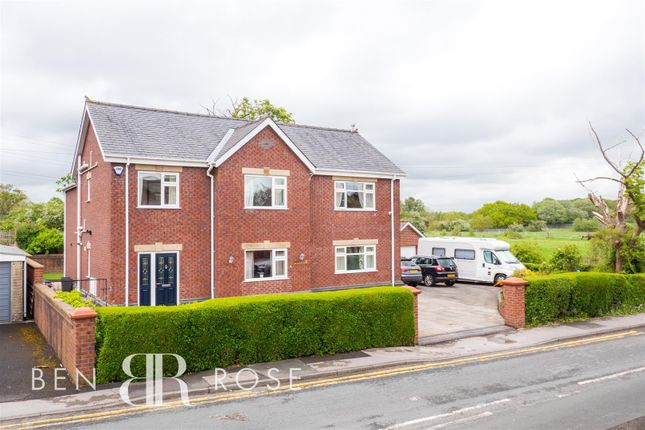 Thumbnail Detached house for sale in Fowler Lane, Farington Moss, Leyland