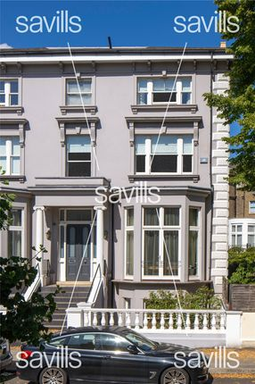 Front Exterior of Buckland Crescent, Belsize Park, London NW3