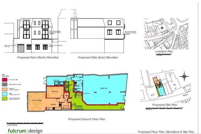 Proposed Floor Gf Plan + Front Elevation