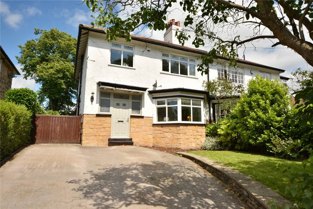Thumbnail Semi-detached house for sale in West Park Grove, Roundhay, Leeds