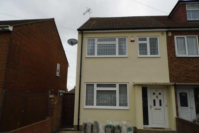 Thumbnail Semi-detached house to rent in Warwick Road, Rainham